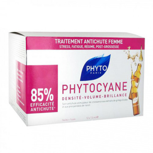 Phyto Phytocyane Soin Antichute Femme 12 Ampoules