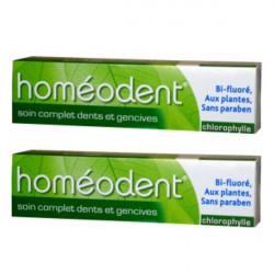 Boiron Homéodent Soin COmplet Dents et Gencives Chlorophylle 75ml, lot de 2
