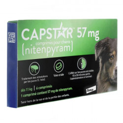 Capstar 57mg pour chiens
